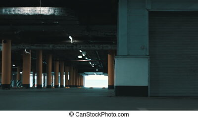 Huge underground parking.