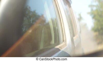 Reflected through the mirror machine - view through the...