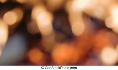 defocused fireplace with bokeh - abstract background...