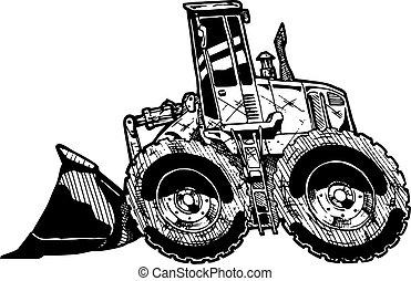 heavy equipment loader - vector illustration of heavy...