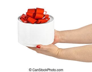 Hands with gift