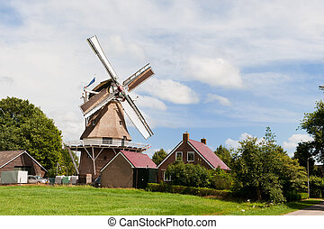 Dutch windmill in province Drenthe at Havelte