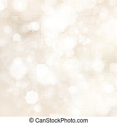Soft golden abstract Christmas lights. EPS 10 vector file...