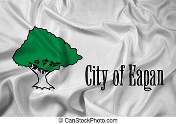 Waving Flag of Eagan, Minnesota, USA