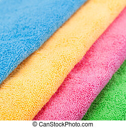 Towel isolated on a white
