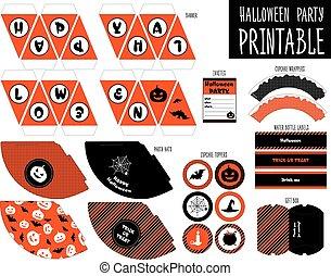 Halloween party. Printable set. - Printable set for...