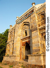 Delhi - An ancient monument at the Lodhi Gardens in Delhi,...