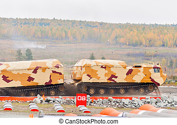 Tracked carrier DT-30P1 in action. Russia - Nizhniy Tagil,...