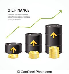 Oil Industry Crisis Graph Concept. Vector