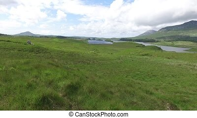 view to lake or river at connemara in ireland - nature and...