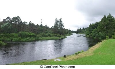 men fishing on river bank in ireland valley 6 - nature,...