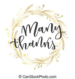 Thank you lettering greeting - Thank you hand lettering...