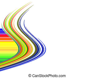Vibrant Fibers with Copy Space over white background