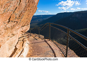 Mountain track over cliff edge - MOuntain track over cliff...