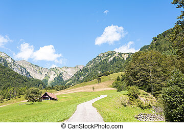 Mountain scenery in the Alps of friuli, Italy
