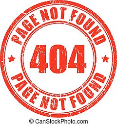 404 page not found stamp isolated on white background