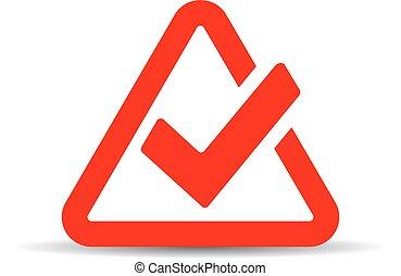 Red tick mark symbol
