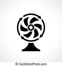 Desk fan ventilator icon - Desk fan ventilator vector icon
