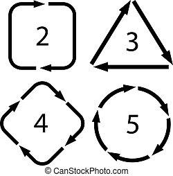 Arrow cycle diagrams set