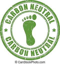 Carbon neutral footprint stamp