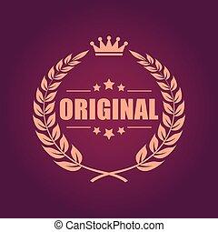 Original laurel heraldic emblem - Original laurel heraldic...
