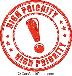 High priority stamp - High priority ink vector stamp