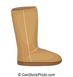 Ugg boots icon in cartoon style isolated on white background...