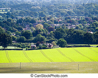 View of the Cheshire Countryside from Beeston Castle