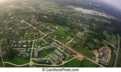 Countryside aerial view. - Countryside with houses, roads...
