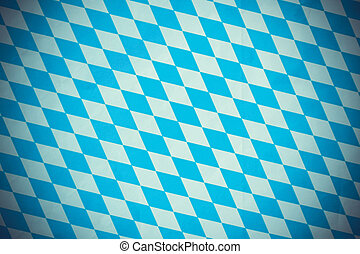 Bavarian diamond flag, blurred effect - Bavarian diamond...