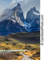Rocks Los Cuernos - The concept of eco-tourism. Rocks Los...