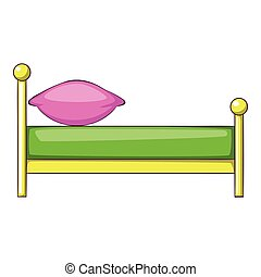 Kid bed icon, cartoon style icon, cartoon style - Kid bed...