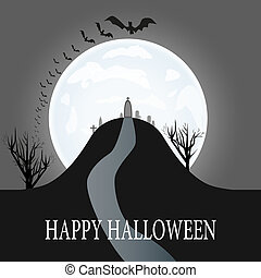 Vector Illustration of a Halloween Background