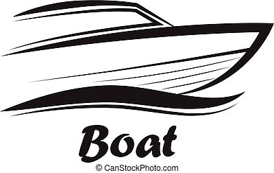 boat sign - vector illustration