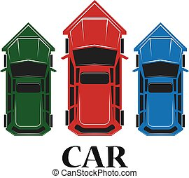 Car top icon , vector illustration
