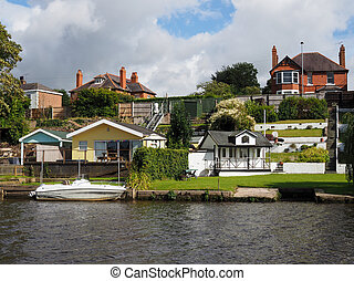 Houses along the River Dee at Chester