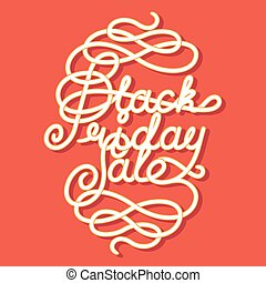 Black Friday Sale lettering. letters with decoration...