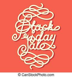 Black Friday Sale lettering