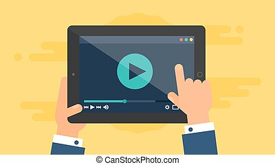 Web Template of Tablet Video Form