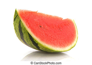 Slice water melon - Sweet slice of water melon isolated over...