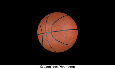 Animation basketball with alpha channel HD
