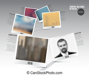 Infographic Timeline Template with photos - Vector...
