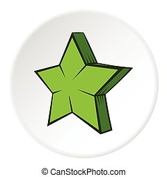 Geometrical figure of five pointed stars icon