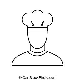 Chef icon, outline style