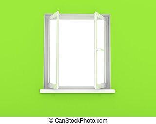 Fenster schließen clipart  Zeichnungen von fenster, rgeöffnete - Open, fenster, mit, ansicht ...