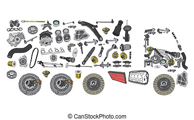 Images truck assembled from spare parts - Images truck...