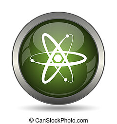 Atoms icon Internet button on white background