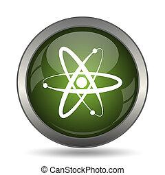 Atoms icon Internet button on white background