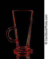 Silhouette of shot with clipping path on black background -...