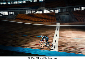 Finish - Active cyclist on a cycle track